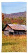 Old Barn Along Slick Fisher Road Bath Towel