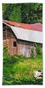 Old Barn Near Chimney Rock Bath Towel