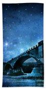 Old Bridge Over River Bath Towel