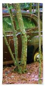Old Car In The Woods Bath Towel