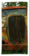 Old Cars Left To Decorate The Weeds Bath Towel