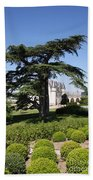 Old Cedar At Chateau Amboise Bath Towel