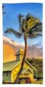 Old Church At Honokawai Maui Bath Towel