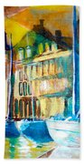 Old Copenhagen Thru Stained Glass Bath Towel