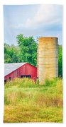Old Country Farm And Barn Bath Towel