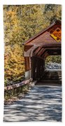 Old Covered Bridge Vermont Bath Towel