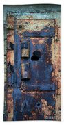Old Door At Abandoned Prison Bath Towel