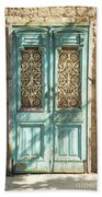 Old Door In Jersusalem Israel Bath Towel