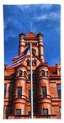 Old Dupage County Courthouse Flag Bath Towel