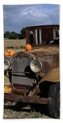Old Farm Truck Bath Towel