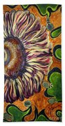 Old Fashion Flower 2 Bath Towel