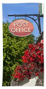 Old Fashioned Post Office Sign Bath Towel