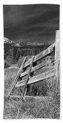 Old Fence At Mount Lassen Bath Towel