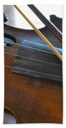 Old Fiddle And Bow Still Life 2 Bath Towel
