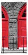 Old Fire Hall Doors Bath Towel