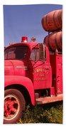 Old Fire Truck Bath Towel