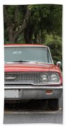 Old Ford Galaxy In The Rain Hand Towel