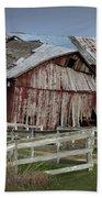 Old Forlorn Decrepid Wooden Barn Bath Towel