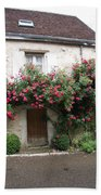 Old House Covered With Roses Bath Towel