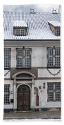 Old House In Riga Bath Towel