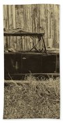 Old Jalopy Behind The Barn Hand Towel