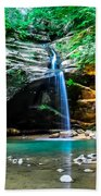Old Mans Cave Lower Falls Bath Towel