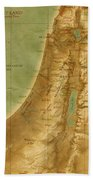 Old Map Of The Holy Land Bath Towel