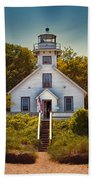 Old Mission Point Light House 02 Bath Towel