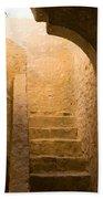 San Antonio Texas Concepcion Mission Stairs Bath Towel