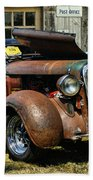 Old Rusty Car At The Old Shop  Ca5083a-14 Bath Towel