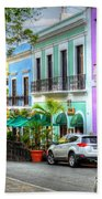 Old San Juan Street Bath Towel