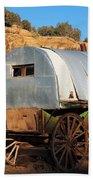 Old Sheepherder's Wagon Bath Towel