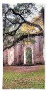 Old Sheldon Church - Bending Oak Bath Towel