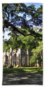 Old Sheldon Church Ruins Near Beaufort Sc Hand Towel