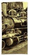 Old Steam Train Bath Towel