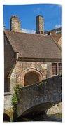 Old Stone Bridge In Bruges  Bath Towel