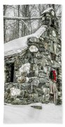 Old Stone Chapel Stowe Vermont Bath Towel