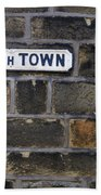 Old Street Sign Bath Towel