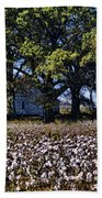 Old Time Farm And Cotton Fields Bath Towel