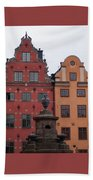Old Town Architecture Bath Towel