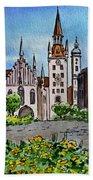 Old Town Hall Munich Germany Bath Towel