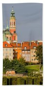 Old Town Of Warsaw Skyline Bath Towel