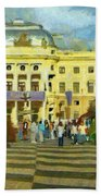 Old Town Square Bath Towel