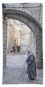 Old Town Street Of Jerusalem Israel Bath Towel