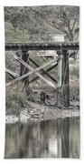 Old Train Trestle Bath Towel