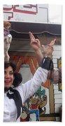 Old West Canine Show Patriotic Dog Pinal County Fair Eleven Mile Corner Arizona 2005 Hand Towel