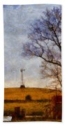 Old Windmill On The Farm Bath Towel
