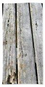 Old Wood Texture Bath Towel