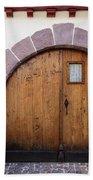 Old Wooden Door Bath Towel