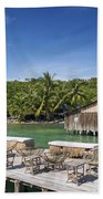Old Wooden Pier Of Koh Rong Island In Cambodia Bath Towel